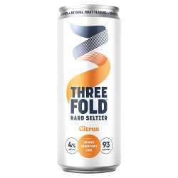 Three Fold Hard Seltzer Citrus 330ml