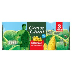 Green Giant Original Sweetcorn 3 x 198g
