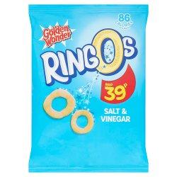 Golden Wonder Ringos Salt & Vinegar 18g