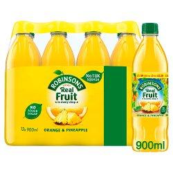 Robinson No Added Sugar Orange & Pineapple Squash 12 x 900ml