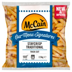 McCain Our Menu Signatures Staycrisp Traditional Coated Thick Cut Chips 2.5kg