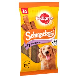 PEDIGREE Schmackos Dog Treats with Beef 10 Stick (MPP £1)
