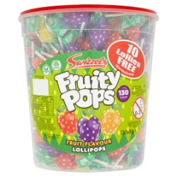Swizzels Fruity Pops Fruit Flavour Lollipops
