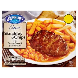 Kershaws Steaklet & Chips PM £1.69