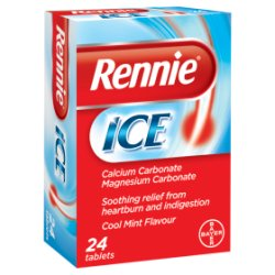 Rennie Ice Cool Mint Flavour 24 Tablets