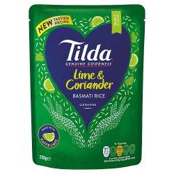 Tilda Microwave Lime and Coriander Basmati Rice 250g