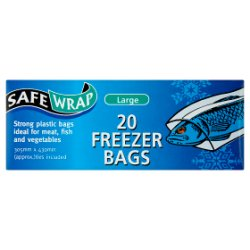 SafeWrap 20 Freezer Bags Large 305mm x 430mm