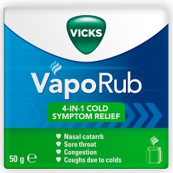 VICKS VapoRub Cold Remedy For Cough And Blocked Nose Jar 50g
