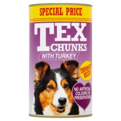 Tex Chunks with Turkey 1.2kg