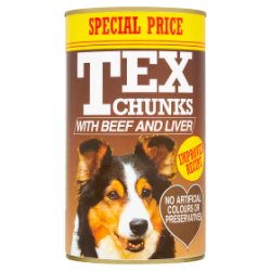 Tex Chunks with Beef and Liver 1.2kg