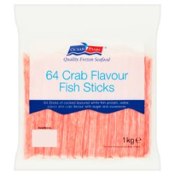 Ocean Pearl 64 Crab Flavour Fish Sticks 1kg (64 Pieces)