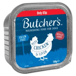 Butcher's Nourishing Food for Dogs with Chicken & Liver 150g