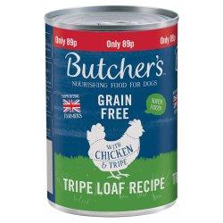 Butcher's Chicken & Tripe Dog Food Tin 400g 89p