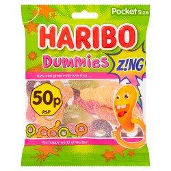 HARIBO Dummies Z!NG Bag 70g 50p PM
