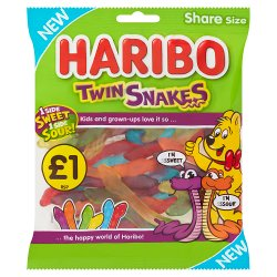 HARIBO Twin Snakes Bag 160g £1PM