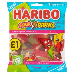 HARIBO Sour Sparks Bag 160g £1PM