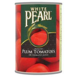 White Pearl Peeled Plum Tomatoes in Tomato Juice 400g