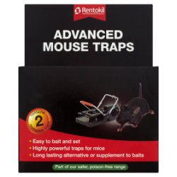 Rentokil Advanced Mouse Traps 2 Reuseable Traps