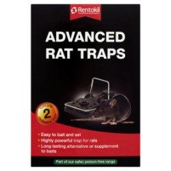 Rentokil Advanced Rat Traps 2 Reuseable Traps