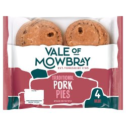 Vale of Mowbray 4 Mini Pork Pies