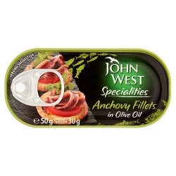 John West Specialities Anchovy Fillets in Olive Oil 50g