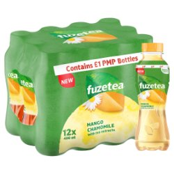 Fuze Tea Mango and Chamomile 12 x 400ml PMP £1