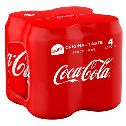Coca-Cola Original Taste 4 x 330ml PM £2.69