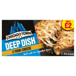 Chicago Town 2 Deep Dish Four Cheese Pizzas 310g