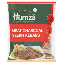 Humza Premium Food Products Meat Charcoal Seekh Kebabs 750g