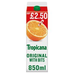 Tropicana Original Orange Juice with Bits £2.50 RRP PMP 850ml