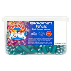 Buddies Blackcurrant Pencils Fruit Flavour Sweets