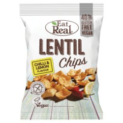 Eat Real Lentil Chips Chilli & Lemon Flavour 40g