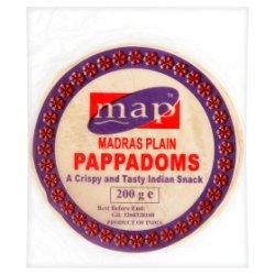Map Madras Plain Pappadoms 200g