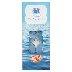 Best Buy 10 Perfumed Tea Light Candles Ocean Fragrance