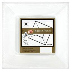 Best Buy 8 Square Plates White 23cm