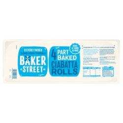 Baker Street 4 Part Baked Ciabatta Rolls