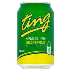 Ting Sparkling Grapefruit Flavoured Beverage 330ml