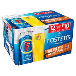 Fosters 12 Pack £10.00