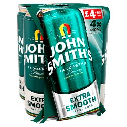 John Smith Extra Smooth Ale 4 x 440ML Can