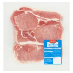 Essentially Catering Sliced Unsmoked Back Bacon 2kg