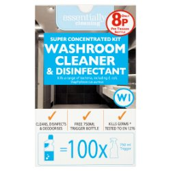 Essentially Cleaning Super Concentrated Kit Washroom Cleaner & Disinfectant