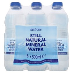 Best-One Still Natural Mineral Water 6 x 500ml