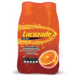 Lucozade Energy Orange Fridge Pack 4 x 380ml