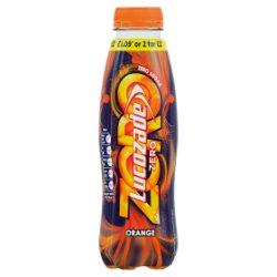 Lucozade Zero Orange 380ml PMP £1.09 or 2 for £2