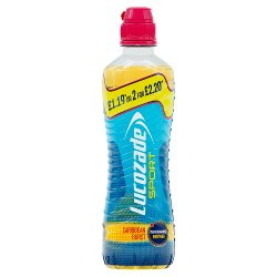 Lucozade Sport Caribbean Burst PMP 500ml £1.19 or 2 for £2.20