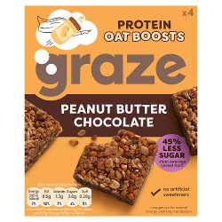 Graze Protein Oat Boosts Cereal Bars Peanut Butter & Chocolate 4 x 30g