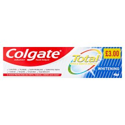 Colgate Total Whole Mouth Health Whitening Toothpaste 125ml PMP £3.00