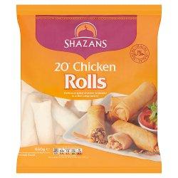 Shazans 20 Chicken Rolls 650g