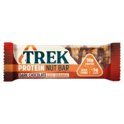 TREK Dark Chocolate and Orange Protein Nut Bar 40g