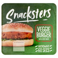 Snacksters Veggie Burger with a Spicy Mayo 136g